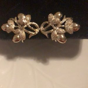Vintage Coro earrings silver tone clip ons